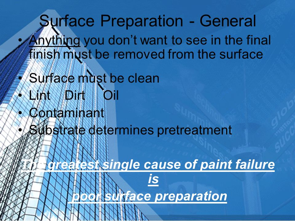 Surface Preparation - General