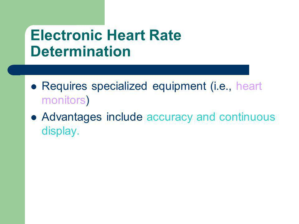 Electronic Heart Rate Determination
