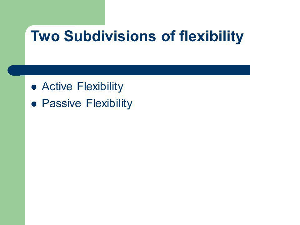 Two Subdivisions of flexibility