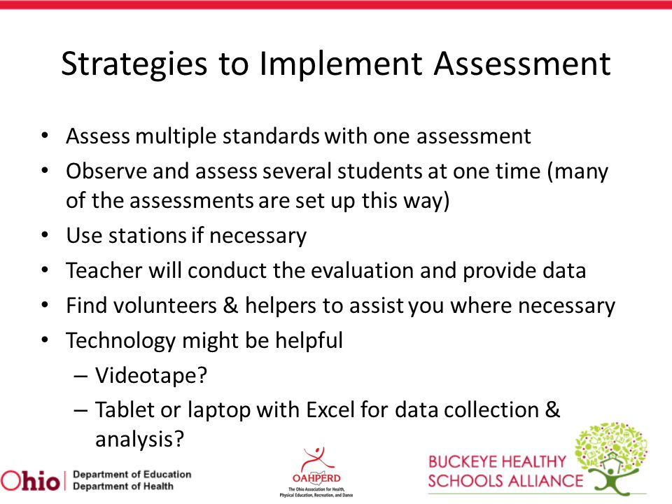 Strategies to Implement Assessment