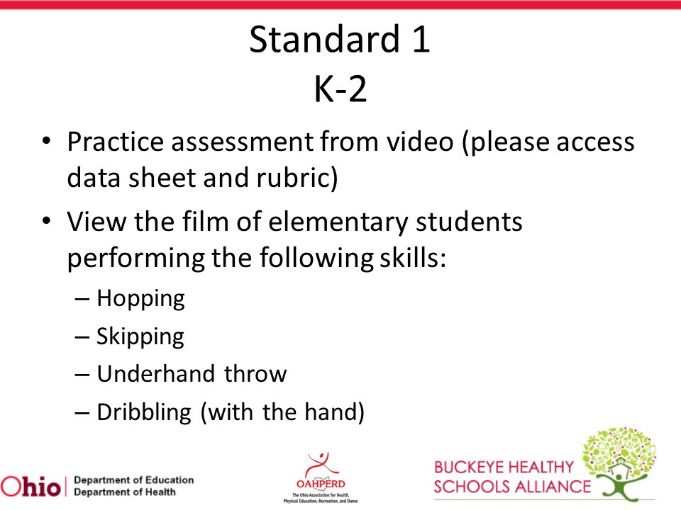 Standard 1 K-2 Practice assessment from video (please access data sheet and rubric)