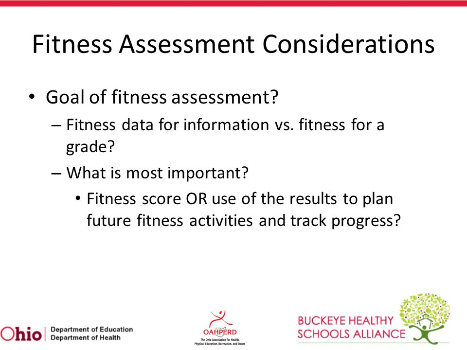 Fitness Assessment Considerations