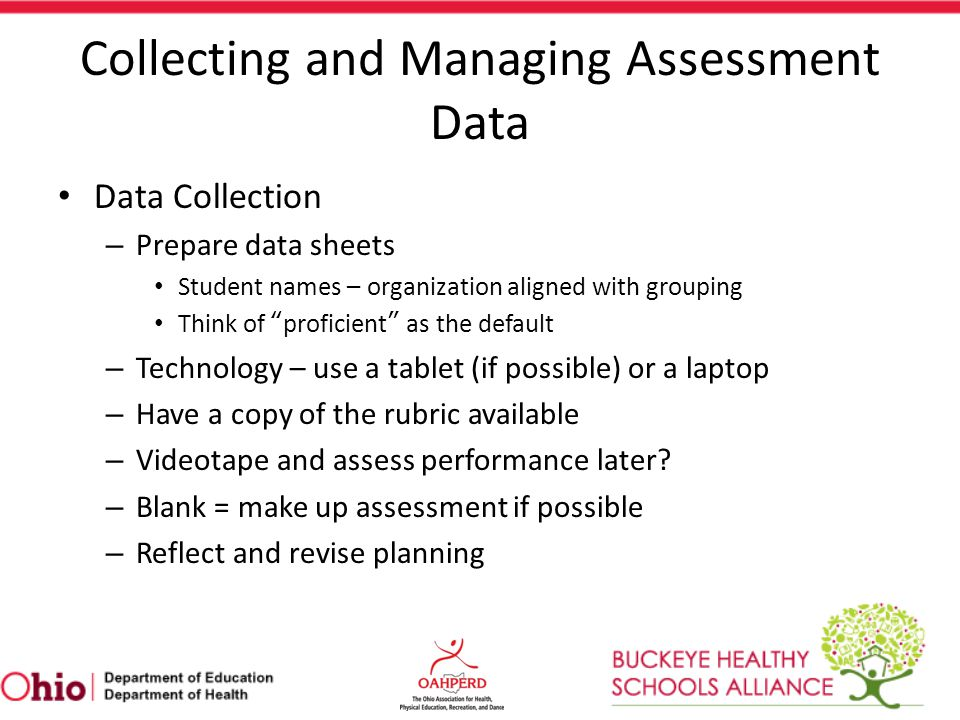 Collecting and Managing Assessment Data