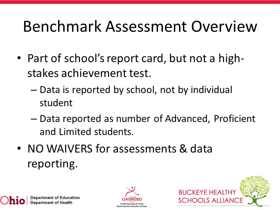 Benchmark Assessment Overview