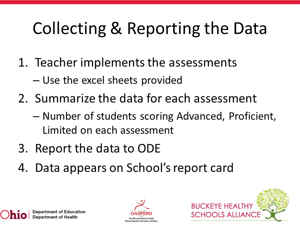 Collecting & Reporting the Data