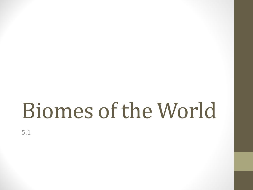 Biomes of the World 5.1