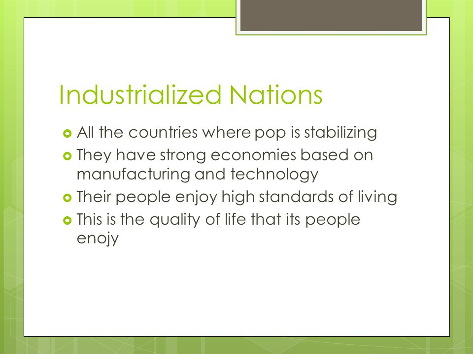 Industrialized Nations