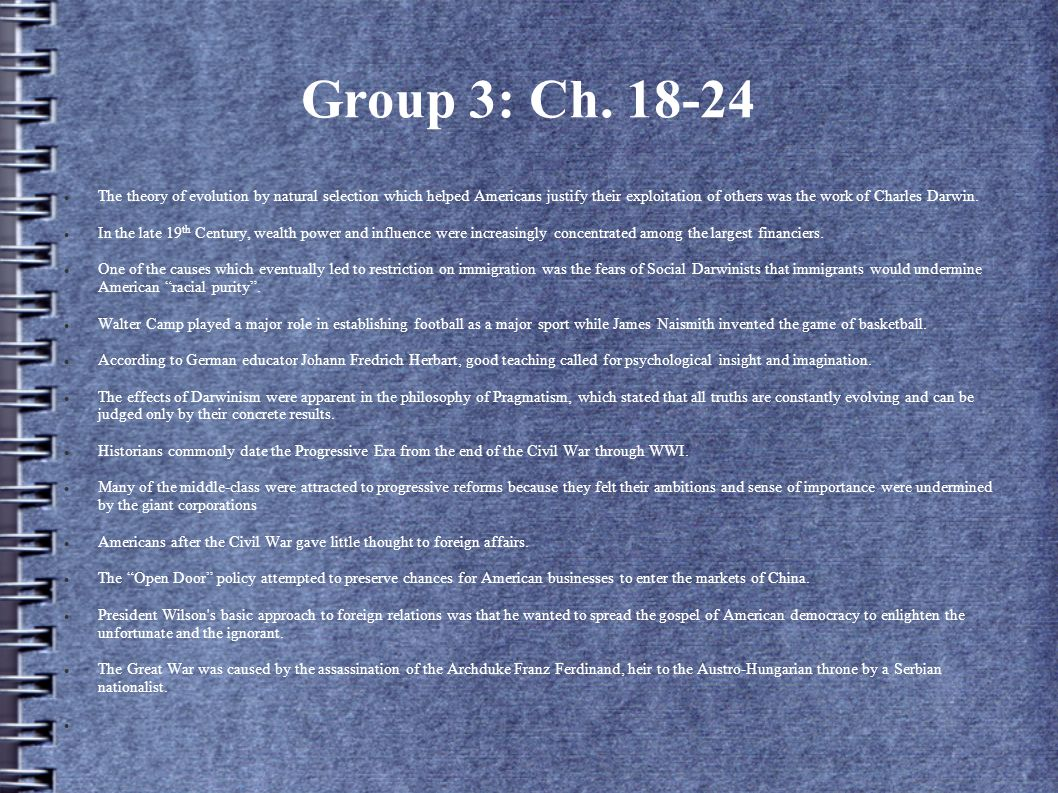 Group 3: Ch. 18-24