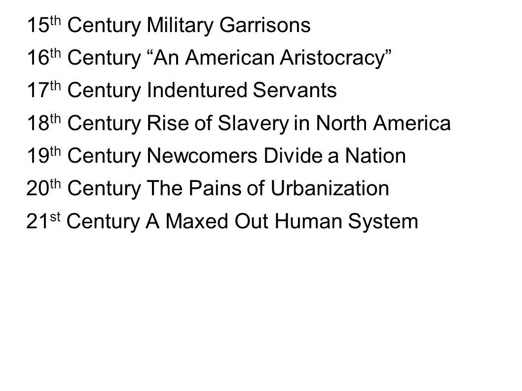 15th Century Military Garrisons
