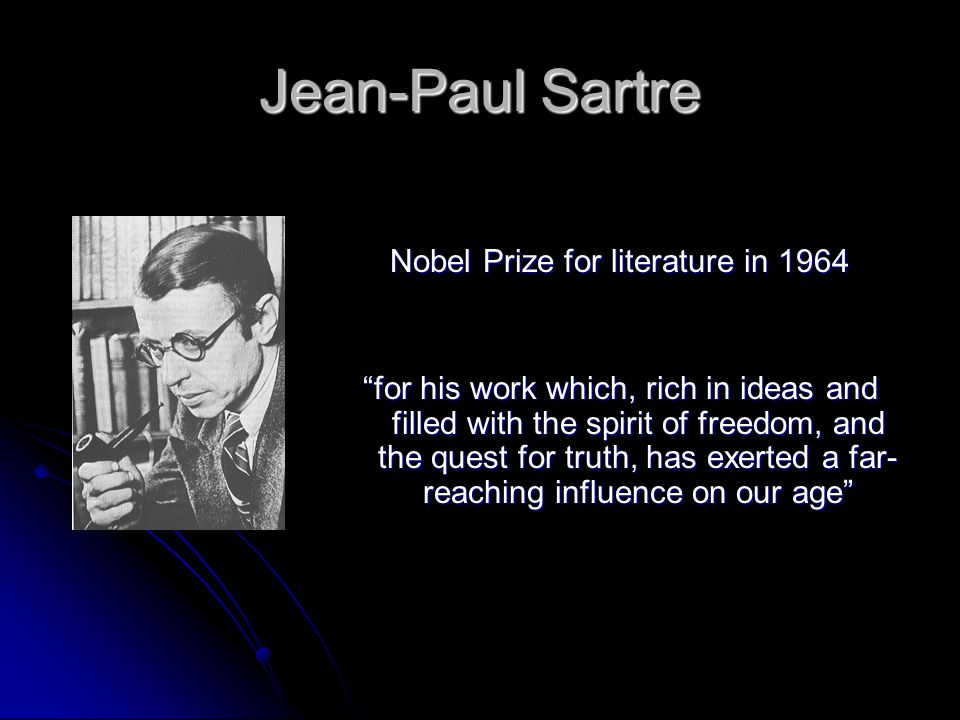 Nobel Prize for literature in 1964