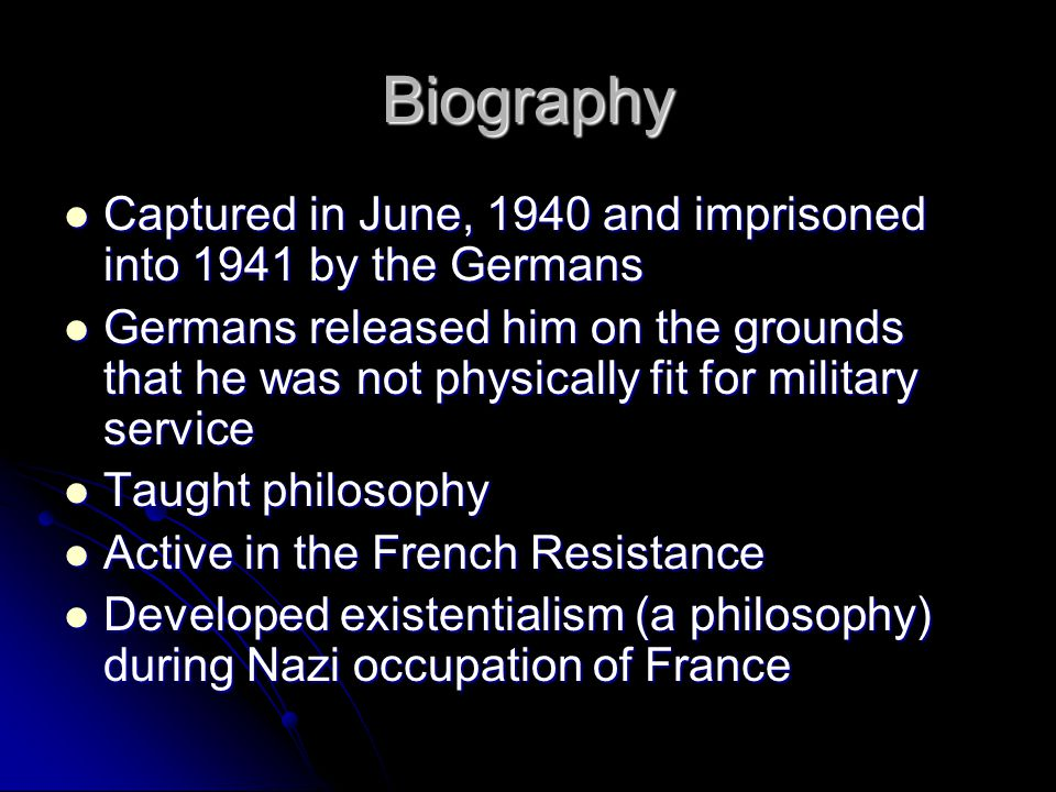 Biography Captured in June, 1940 and imprisoned into 1941 by the Germans.