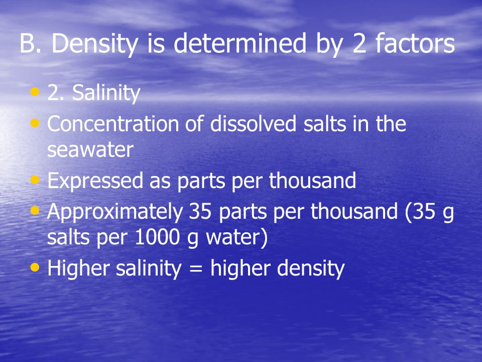 B. Density is determined by 2 factors