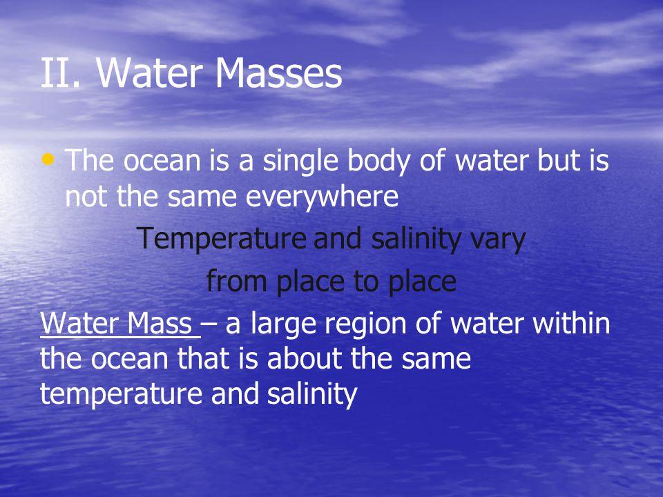 Temperature and salinity vary