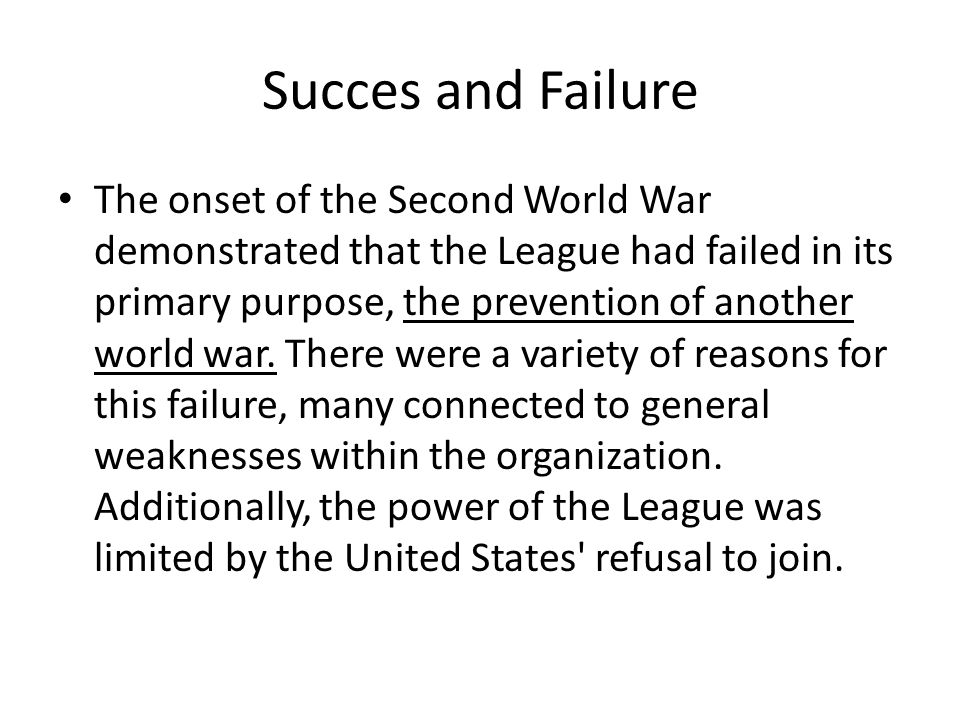 Succes and Failure