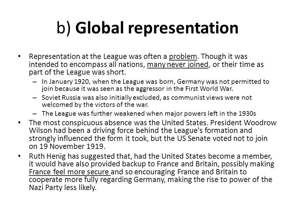 b) Global representation