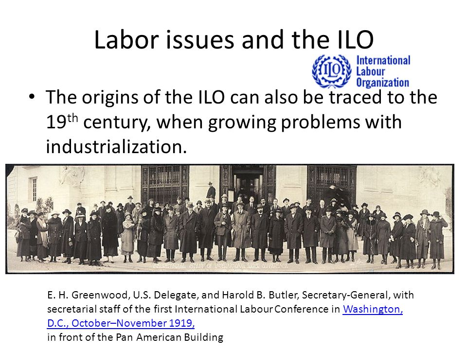 Labor issues and the ILO