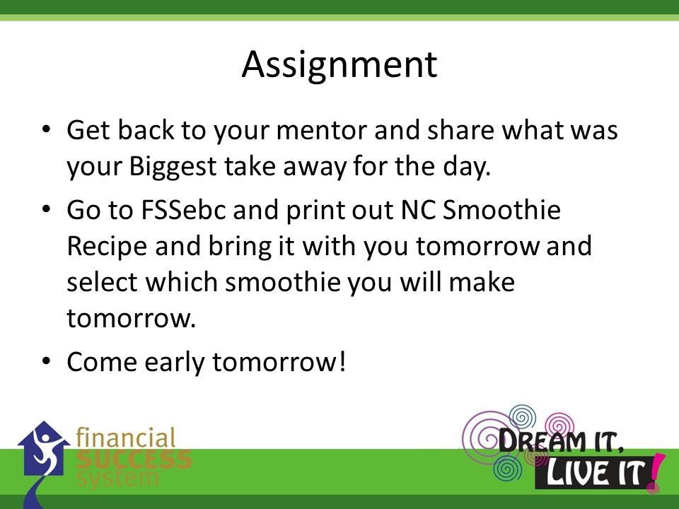 Assignment Get back to your mentor and share what was your Biggest take away for the day.