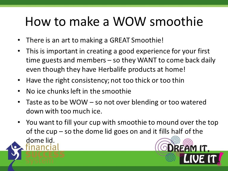 How to make a WOW smoothie