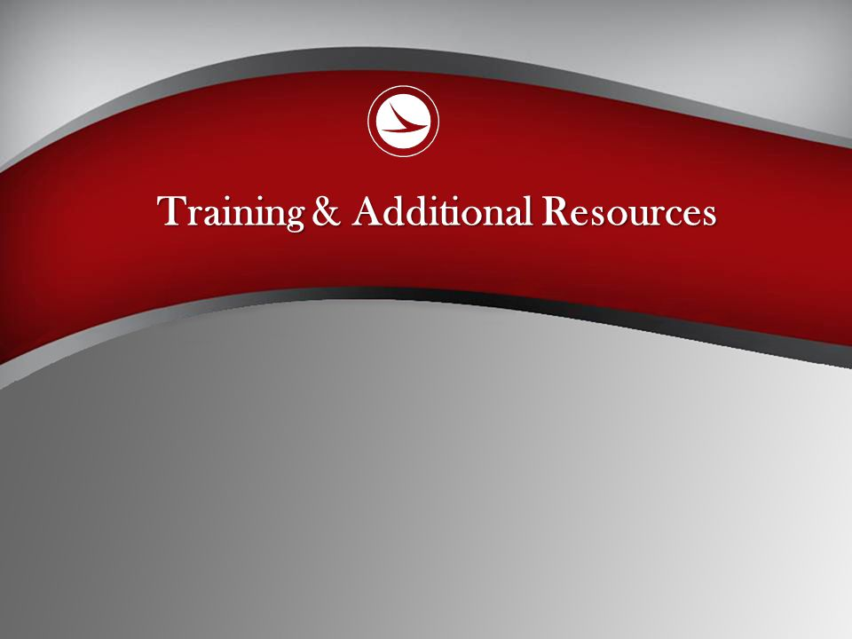 Training & Additional Resources