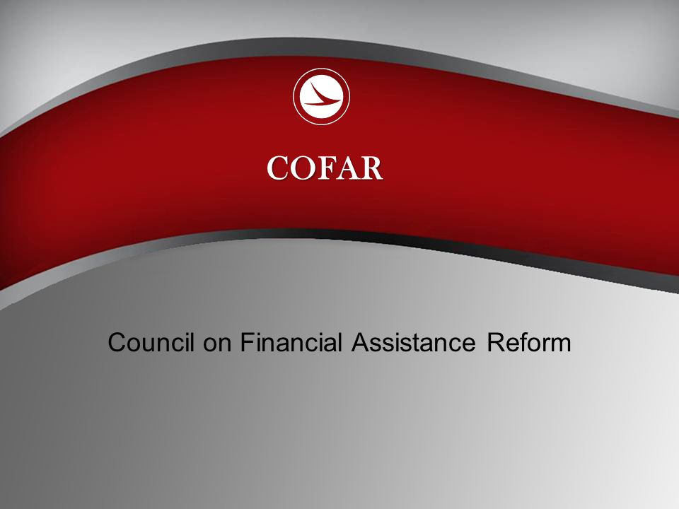 Council on Financial Assistance Reform