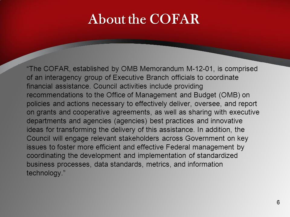 About the COFAR