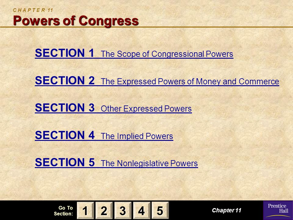 C H A P T E R 11 Powers of Congress