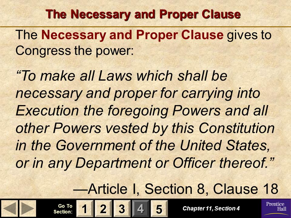 The Necessary and Proper Clause