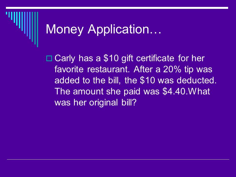 Money Application…