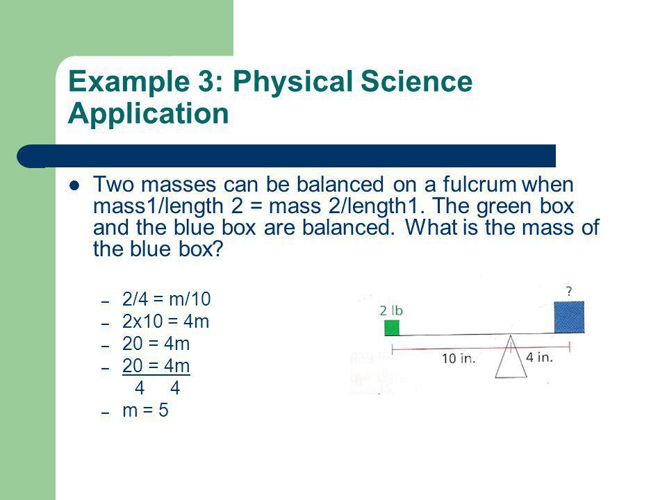 Example 3: Physical Science Application