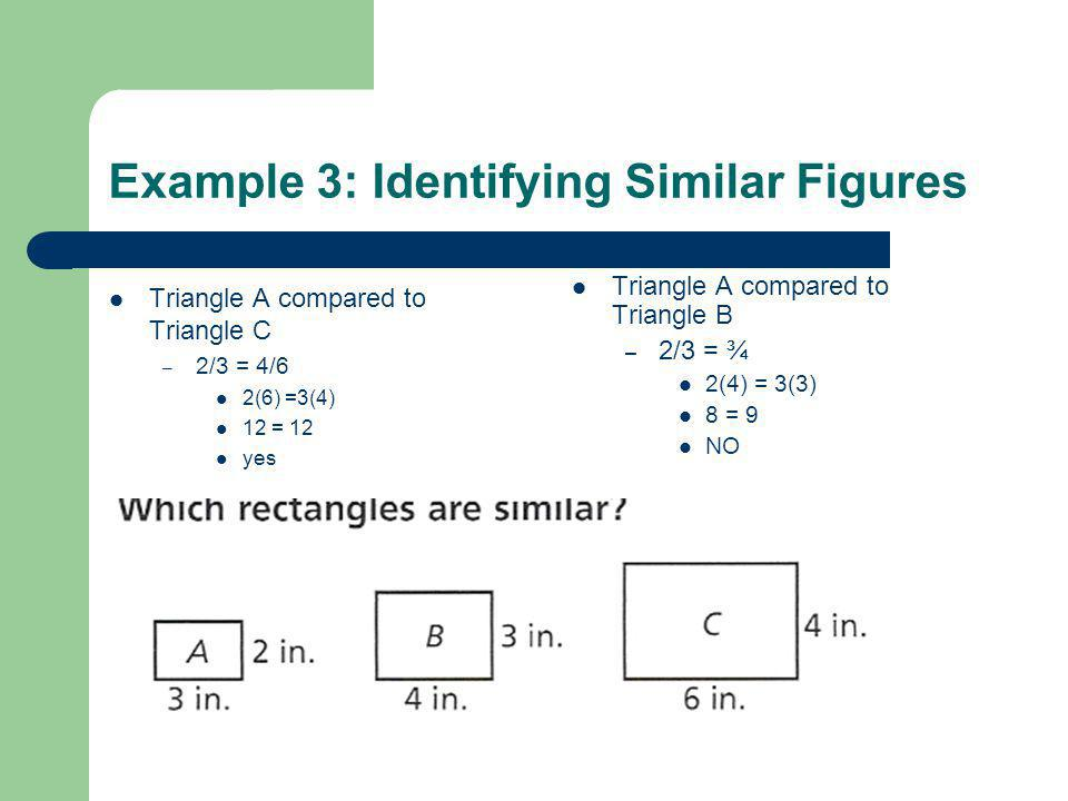 Example 3: Identifying Similar Figures
