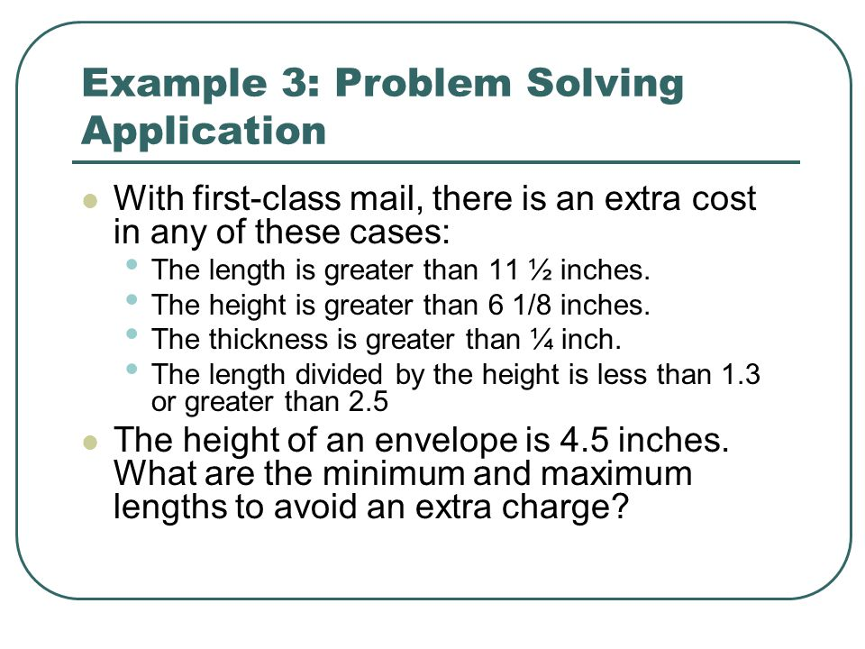 Example 3: Problem Solving Application