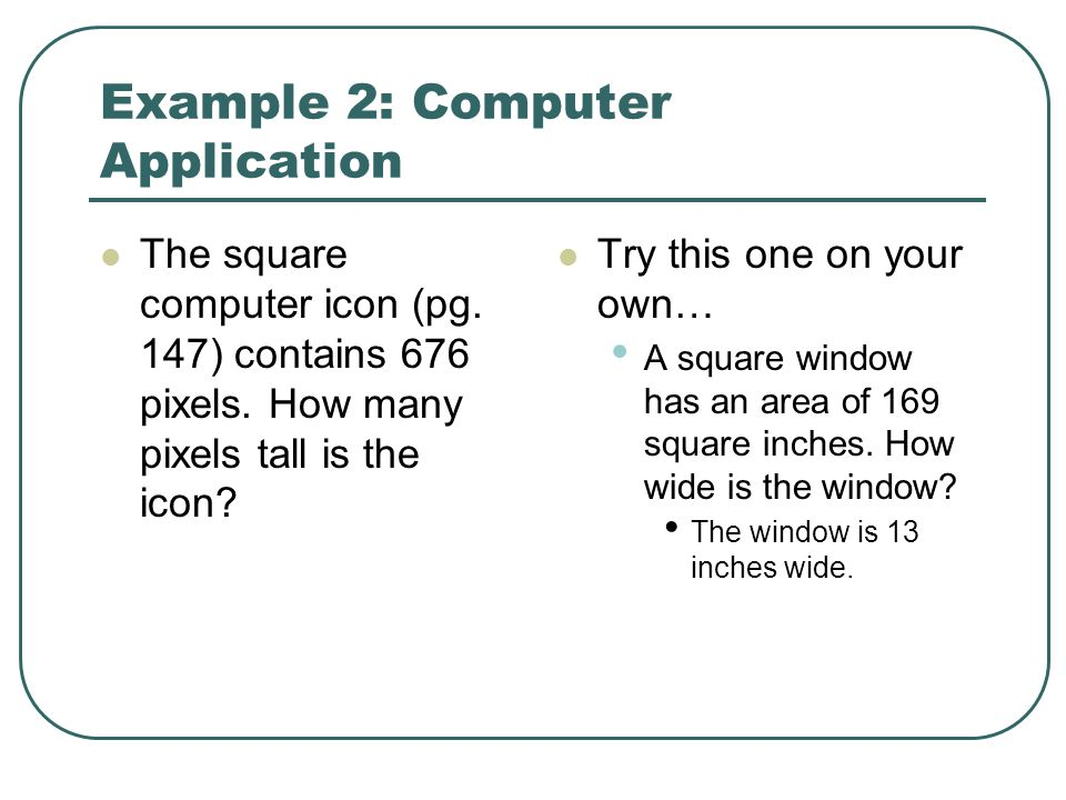 Example 2: Computer Application
