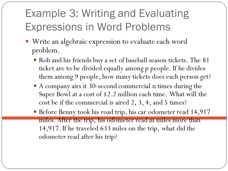writing algebraic expressions from word problems worksheet
