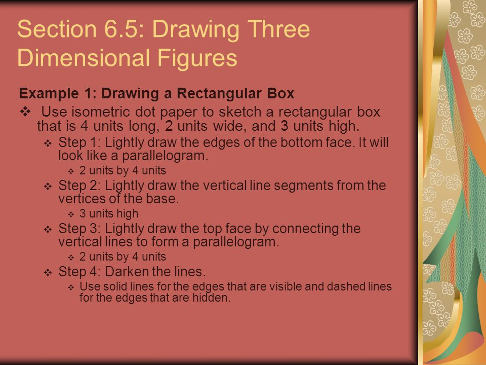 Section 6.5: Drawing Three Dimensional Figures
