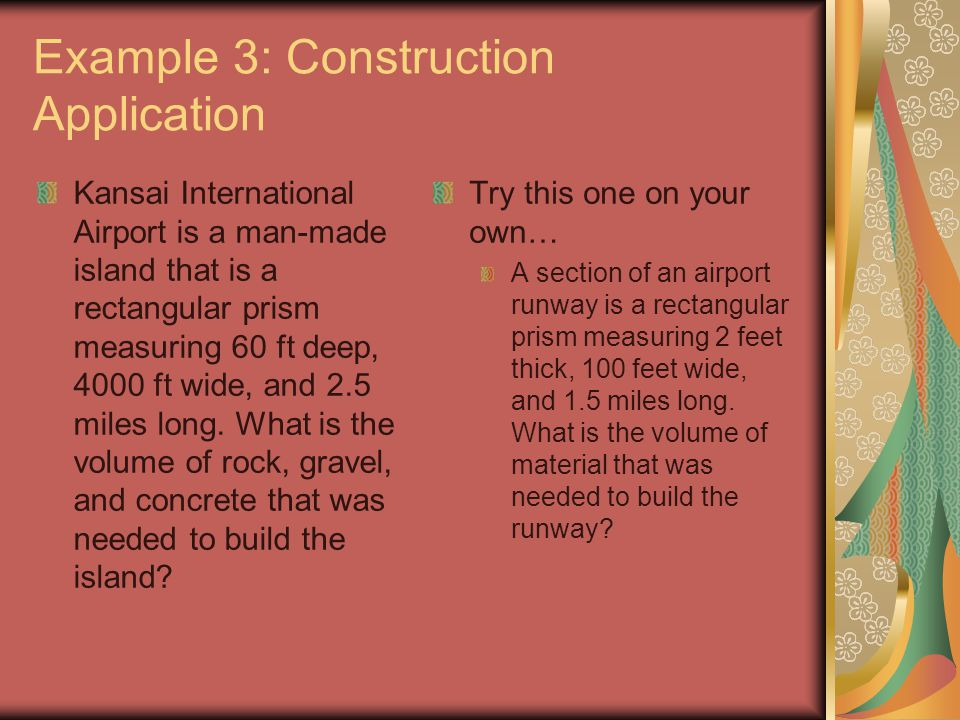 Example 3: Construction Application