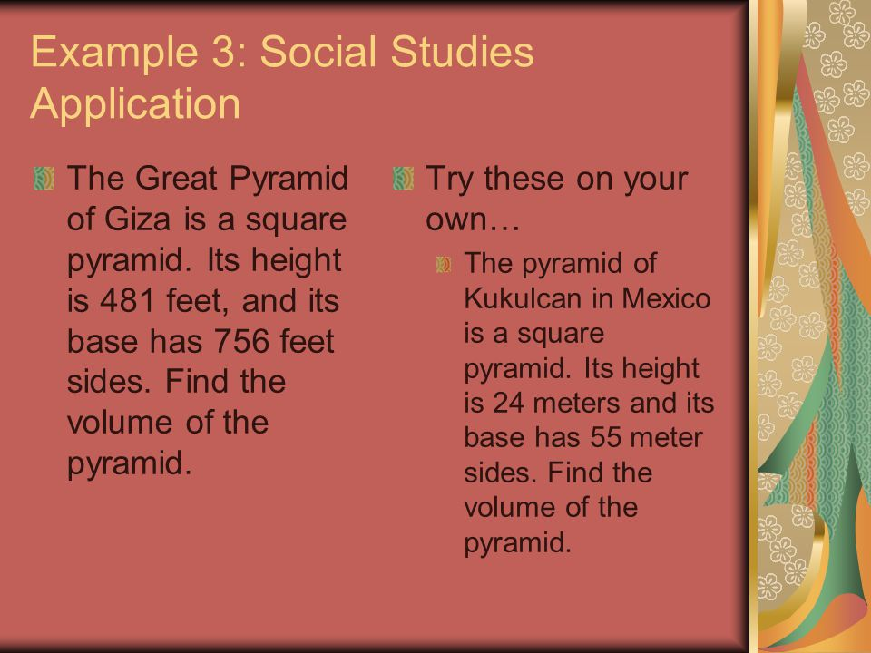 Example 3: Social Studies Application