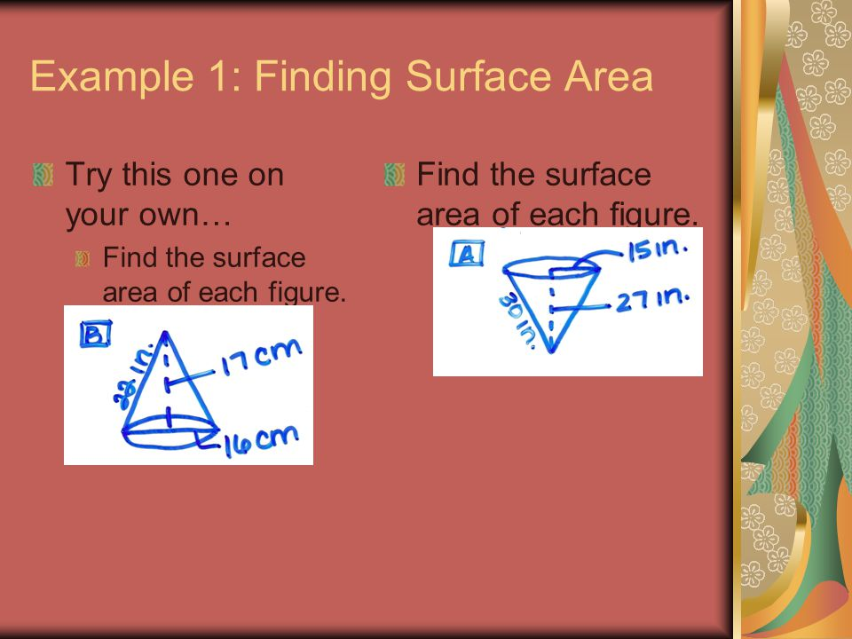 Example 1: Finding Surface Area