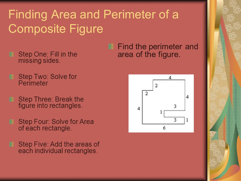 Finding Area and Perimeter of a Composite Figure