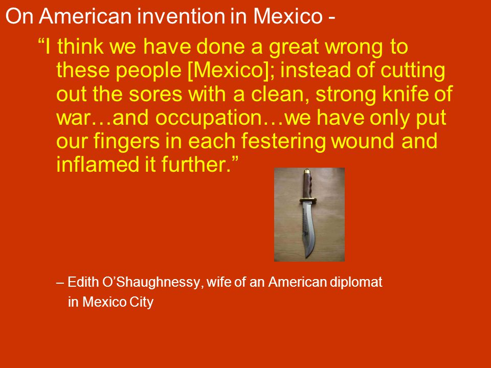 On American invention in Mexico -