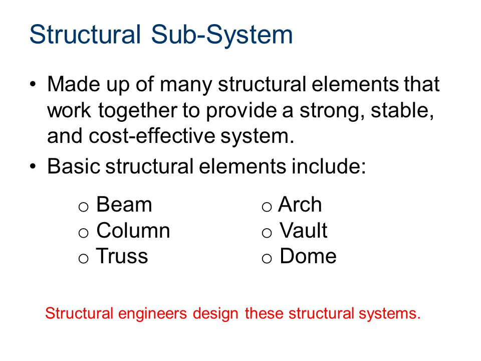Structural Sub-System