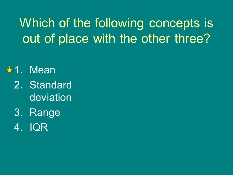 Which of the following concepts is out of place with the other three