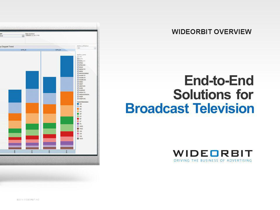 End-to-End Solutions for Broadcast Television WIDEORBIT OVERVIEW