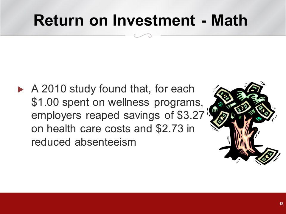 Return on Investment - Math