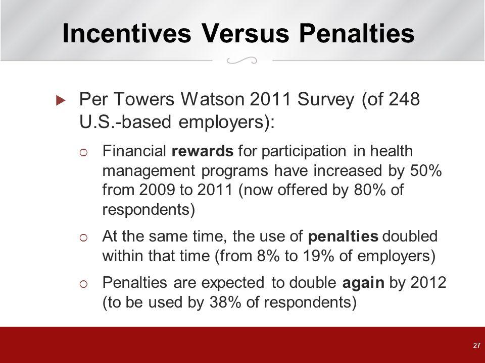 Incentives Versus Penalties
