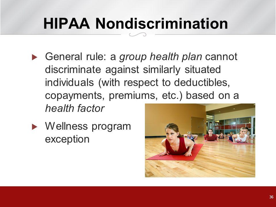 HIPAA Nondiscrimination