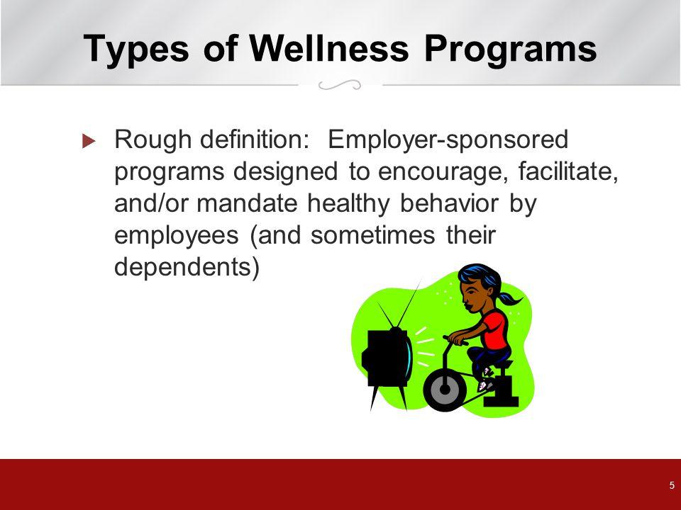 Types of Wellness Programs