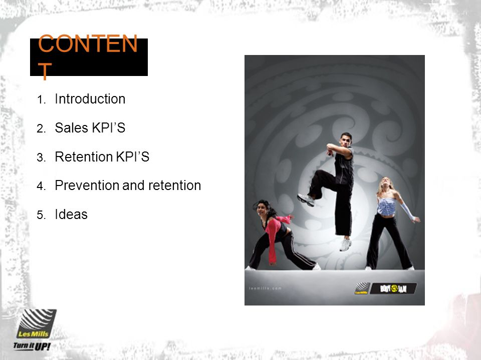 CONTENT Introduction Sales KPI'S Retention KPI'S