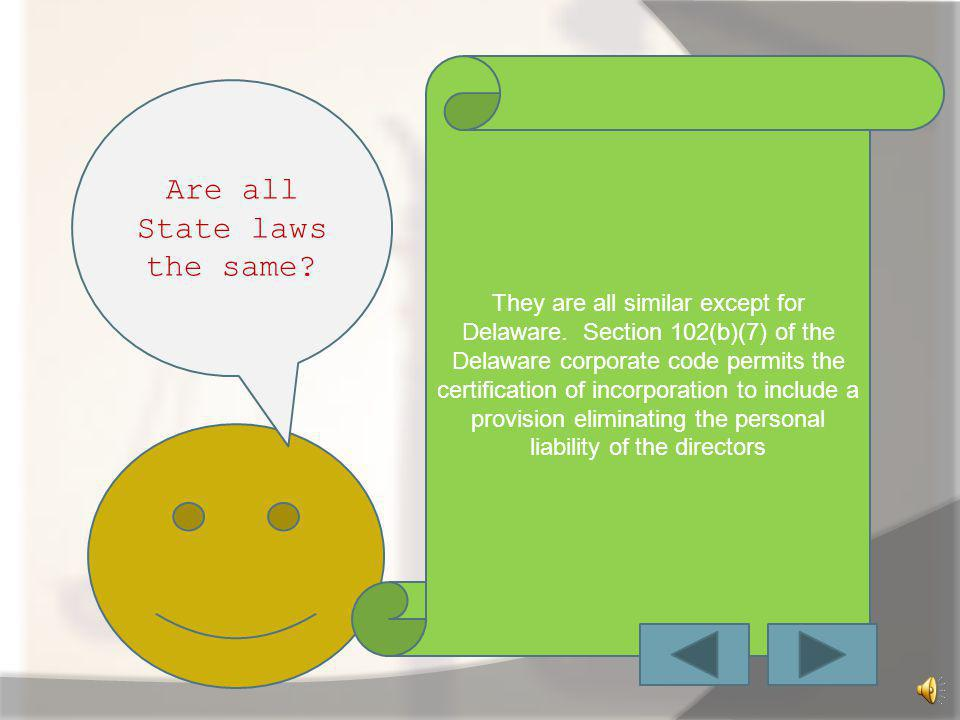 Are all State laws the same