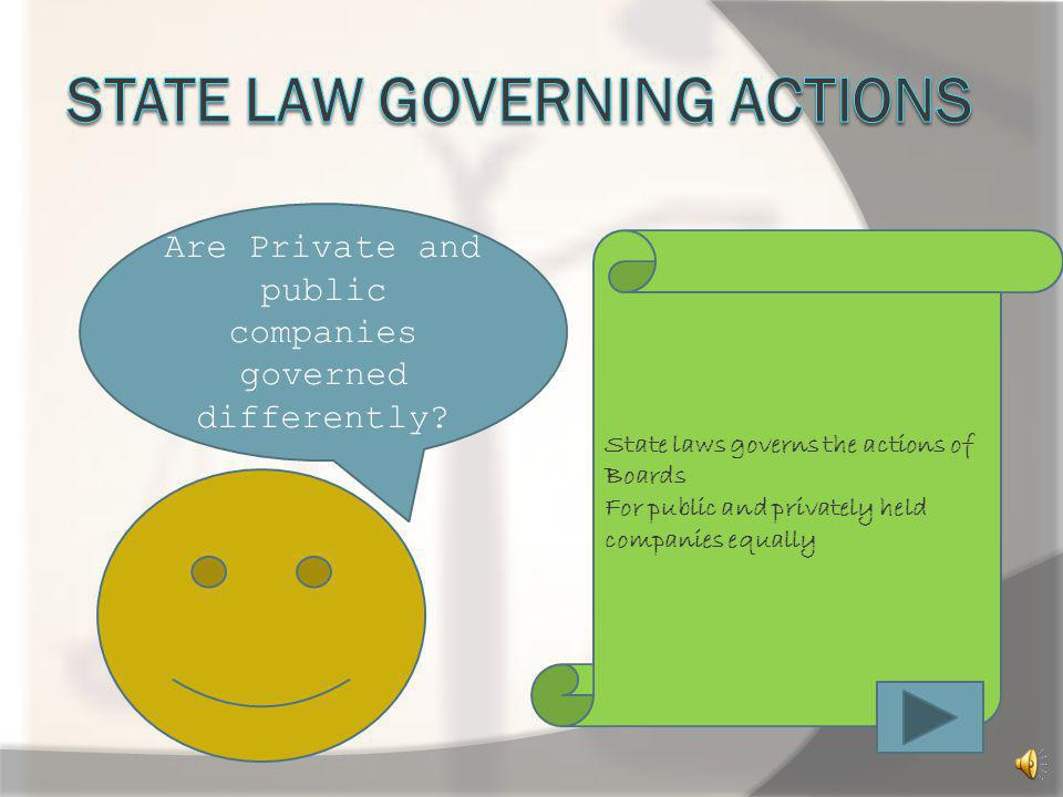 State law Governing Actions