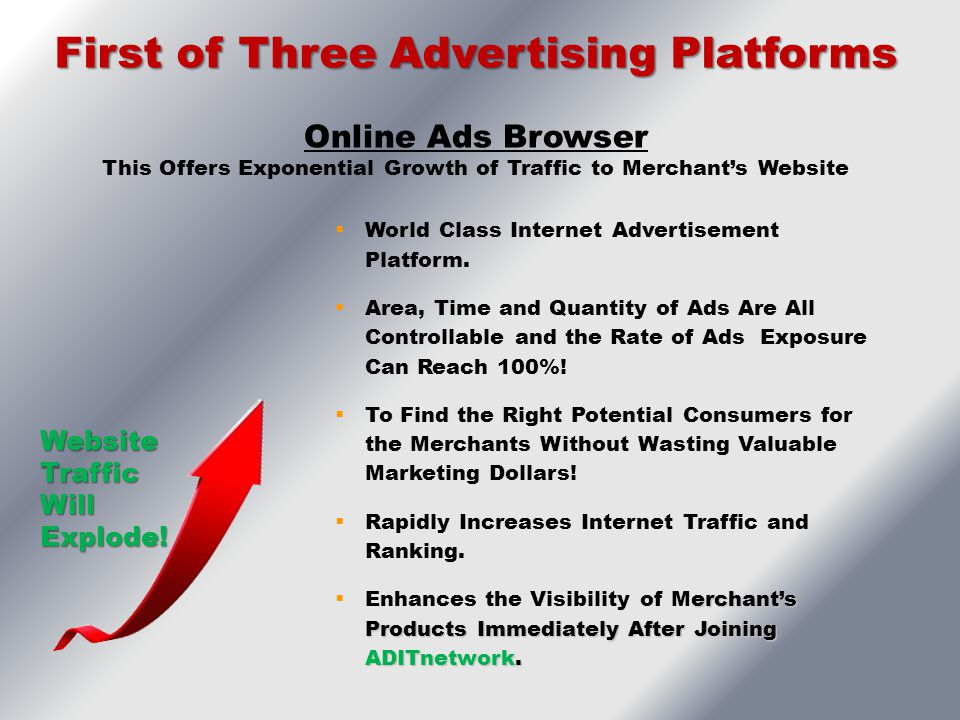 First of Three Advertising Platforms